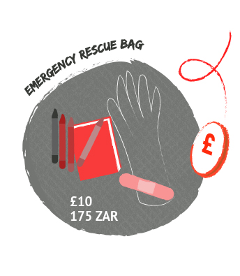 emergency Rescue Rape Bag, Operation Bobbi Bear, South Africa, Claire Pons